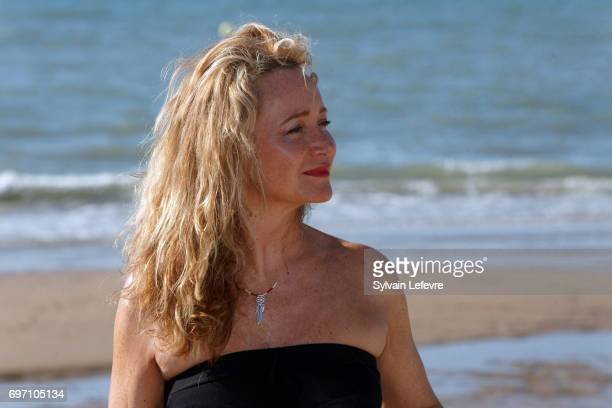 Julie Ferrier attends photocall during 4th day of 31st Cabourg Film Festival on June 17 2017 in Cabourg France