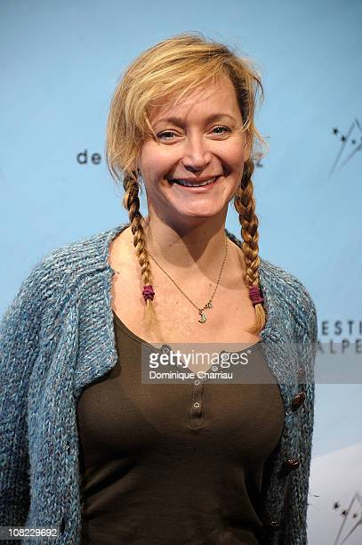 Julie Ferrier attends the 14th Film Festival Of L'Alpe D'Huez on January 21 2011 in Alpe d'Huez France