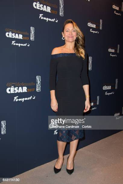 Julie Ferrier attends the Cesar's Dinner at Le Fouquet's on February 24 2017 in Paris France
