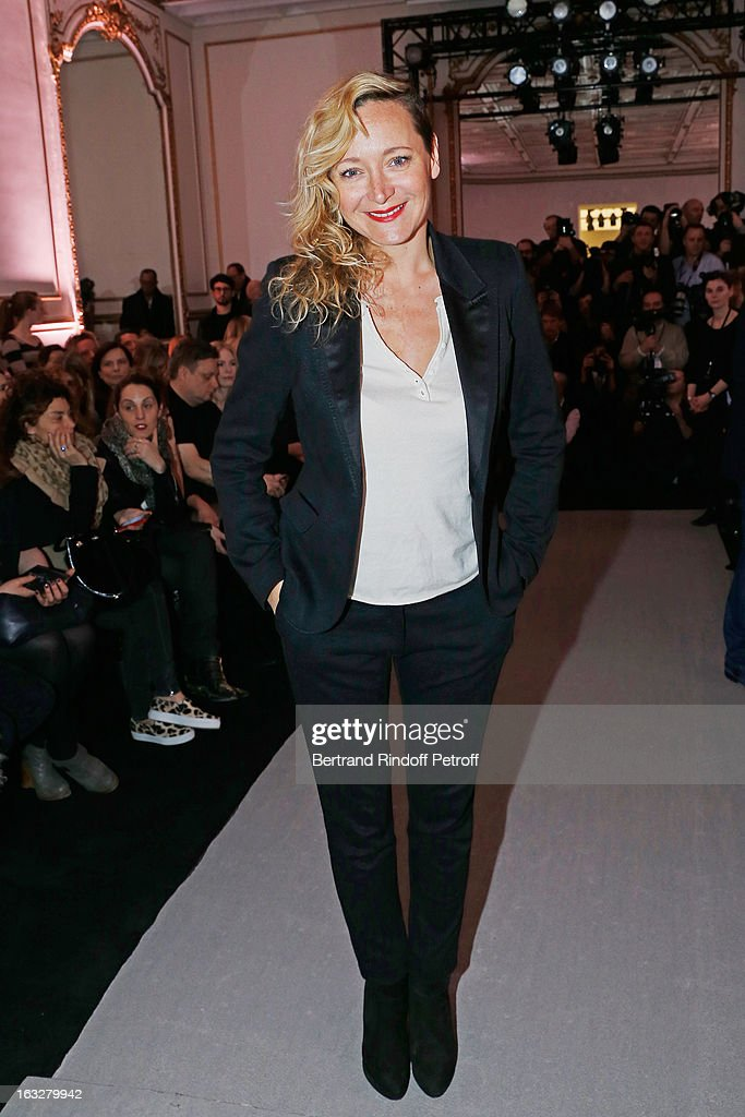 Julie Ferrier attends the Jitrois Fall/Winter 2013 Ready-to-Wear show as part of Paris Fashion Week on March 6, 2013 in Paris, France.