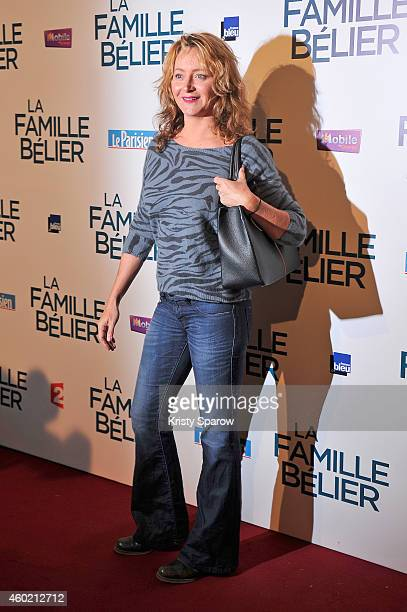 Julie Ferrier attends the 'La Famille Belier' Paris Premiere at Le Grand Rex on December 9 2014 in Paris France