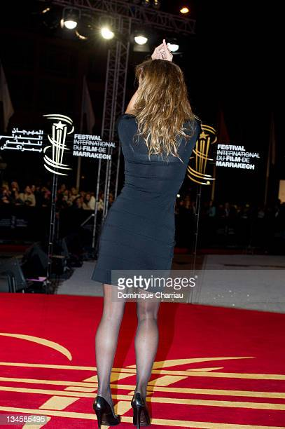 Julie Ferrier attends the Marrakech International Film Festival 2011 Opening Ceremony on December 2 2011 in Marrakech Morocco