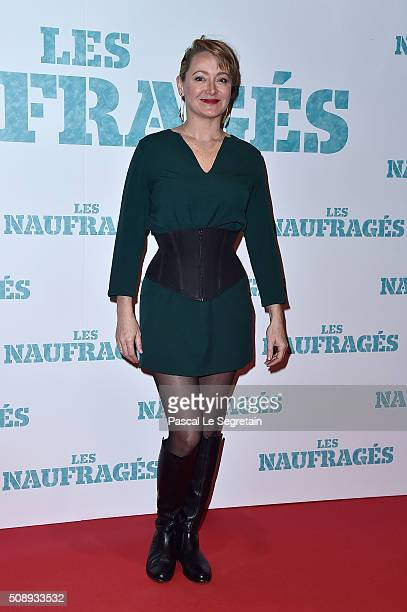 Julie Ferrier attends the Paris Premiere of 'Les Naufrages' film at Cinema Gaumont Marignan on February 7 2016 in Paris France