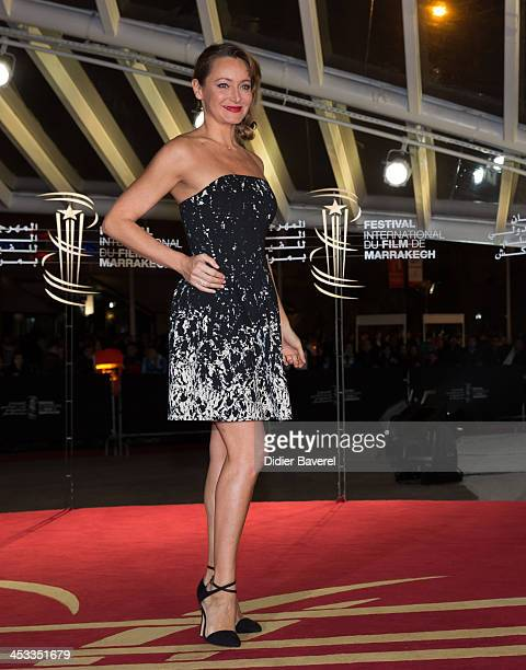 Julie Ferrier attends the 'Sara' premiere at the 13th Marrakech International Film Festival on December 3 2013 in Marrakech Morocco