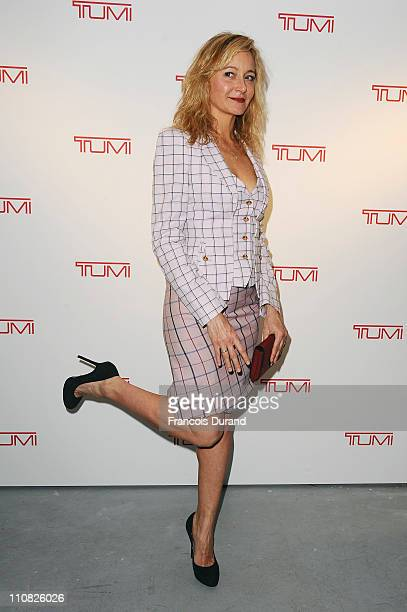 Julie Ferrier attends the 'Tumi Tag Limited Edition' By John 'Crash' Matos Cocktail Launch at Galerie Acte 2 on March 24 2011 in Paris France