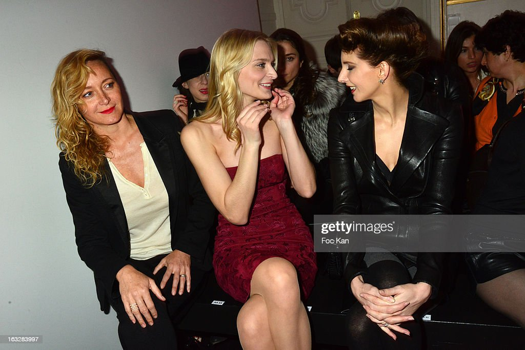 Julie Ferrier, Sarah Marshall and Frederique Bel attend the Jitrois - Front Row - PFW F/W 2013 at Hotel Saint James & Albany on March 6, 2013 in Paris, France.