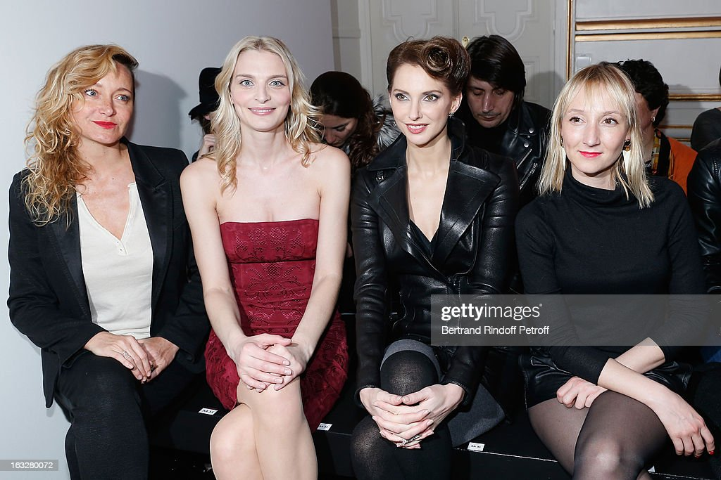 Julie Ferrier, Sarah Marshall, Frederique Bel and Audrey Lamy attend the Jitrois Fall/Winter 2013 Ready-to-Wear show as part of Paris Fashion Week on March 6, 2013 in Paris, France.