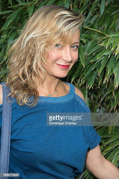 Julie Ferrier sightings at French open 2013 at Roland Garros on June 2 2013 in Paris France