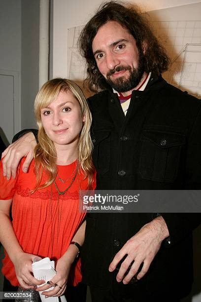 Julie Fishkin and Chris Rubino attend PAPERCUT Inaugural Exhibition to Celebrate the Print Making Process at Heist Gallery on December 13 2008 in New...