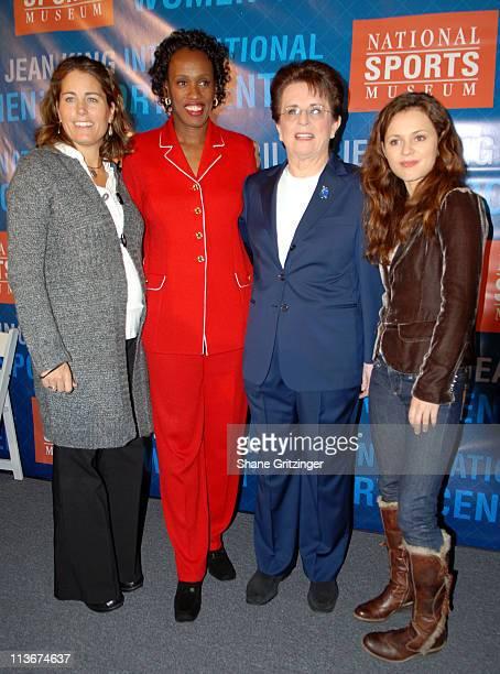 Julie Foudy Jackie Joyner Kersee Billie Jean King and Sasha Cohen