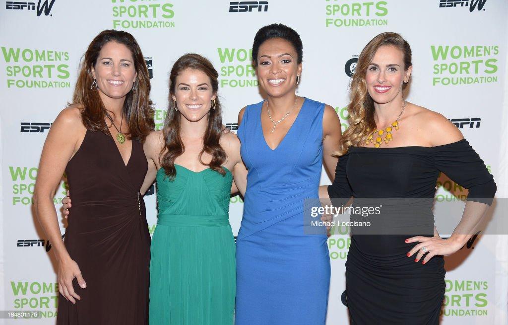 <a gi-track='captionPersonalityLinkClicked' href=/galleries/search?phrase=Julie+Foudy&family=editorial&specificpeople=162758 ng-click='$event.stopPropagation()'>Julie Foudy</a>, <a gi-track='captionPersonalityLinkClicked' href=/galleries/search?phrase=Kelley+O%27Hara+-+Soccer+Player&family=editorial&specificpeople=4412490 ng-click='$event.stopPropagation()'>Kelley O'Hara</a>, <a gi-track='captionPersonalityLinkClicked' href=/galleries/search?phrase=Angela+Hucles&family=editorial&specificpeople=678533 ng-click='$event.stopPropagation()'>Angela Hucles</a> and <a gi-track='captionPersonalityLinkClicked' href=/galleries/search?phrase=Heather+Mitts&family=editorial&specificpeople=736781 ng-click='$event.stopPropagation()'>Heather Mitts</a> attend the 34th annual Salute to Women In Sports Awards at Cipriani, Wall Street on October 16, 2013 in New York City.