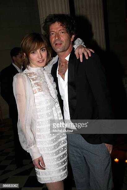 Julie Gayet and her boy friend attends the Chloe Store Opening Party during Paris Fashion Week Spring/Summer 2006 at XXXX on January 24 2006 in Paris...