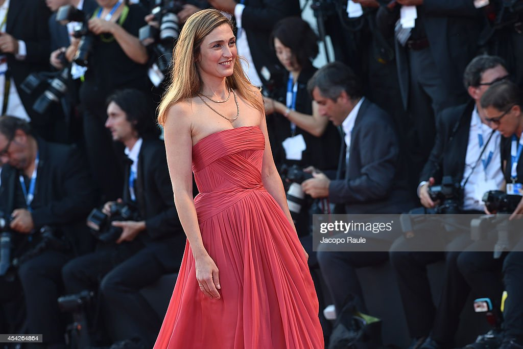 Julie Gayet attends the Opening Ceremony and 'Birdman' premiere during the 71st Venice Film Festival at Palazzo Del Cinema on August 27, 2014 in Venice, Italy.