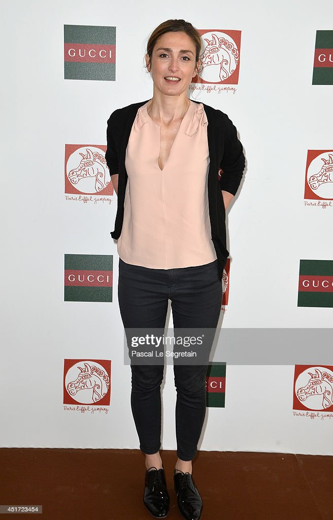 Julie Gayet attends the Paris Eiffel Jumping presented by Gucci at Champ-de-Mars on July 5, 2014 in Paris, France.