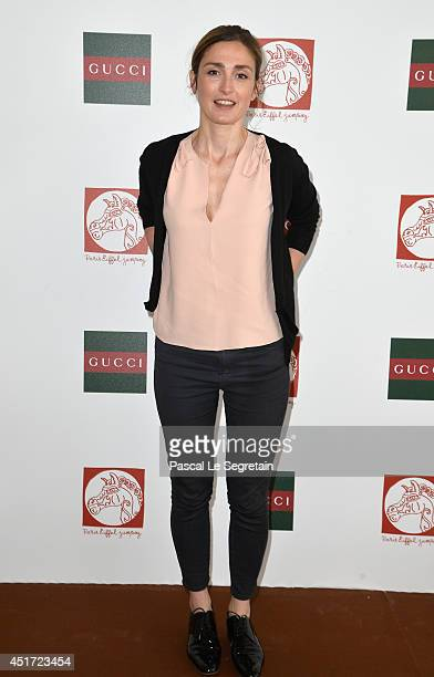 Julie Gayet attends the Paris Eiffel Jumping presented by Gucci at ChampdeMars on July 5 2014 in Paris France