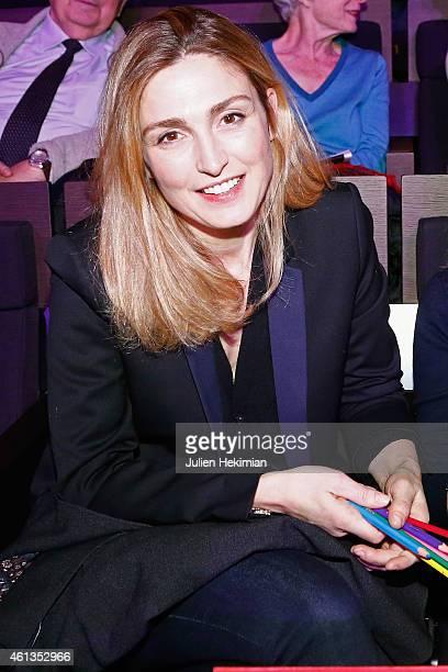 Julie Gayet attends 'Tous En Coeur Pour Charlie' at Maison De La radio on January 11 2015 in Paris France