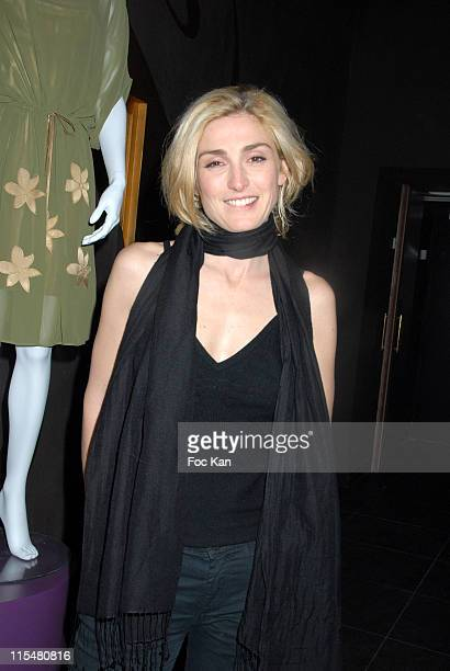 Julie Gayet during Jovovich Hawk's Mango Collection Exhibition Party at Bobin O Cabaret in Paris France