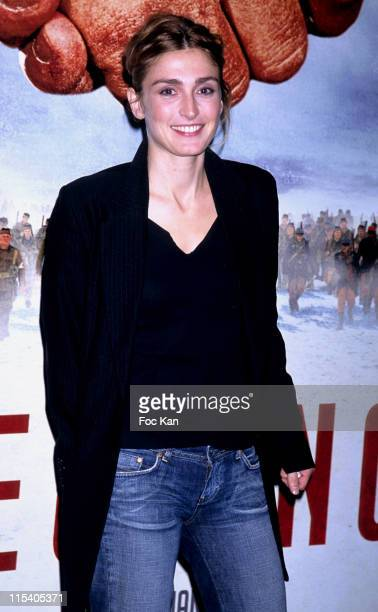 Julie Gayet during 'Joyeux Noel' Paris Premiere Photocall at Cinema UGC Normandie in Paris France