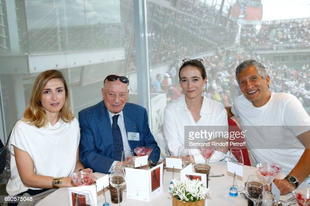 Julie Gayet Herve Bourges President of France Television Delphine Ernotte and Nagui attend the 'France Television' Lunch during the 2017 French...