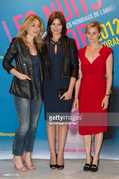 Julie Gayet Marina Hands and Anne Consigny attend 'Panorama At Unesco Dinner' Hosted By Academie Des Cesar at UNESCO on June 18 2012 in Paris France