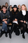 Julie Gilhart attends the Rodarte fashion show during MercedesBenz Fashion Week Fall 2015 at Center 548 on February 17 2015 in New York City