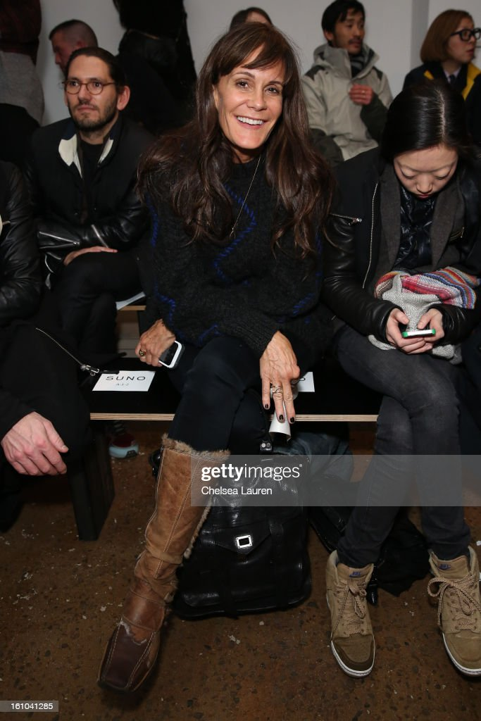 Julie Gilhart attends the Suno fall 2013 fashion show during MADE Fashion Week at Milk Studios on February 8, 2013 in New York City.