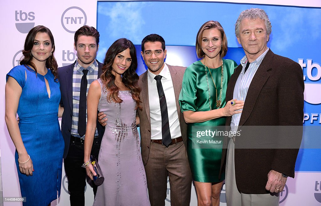 Julie Gonzalo, Josh Henderson, Jordana Brewster, Jesse Metcalfe, Brenda Strong and Patrick Duffy attend the TNT/ TBS Upfront 2012 at Hammerstein Ballroom on May 16, 2012 in New York City. 22362_001_0062.JPG