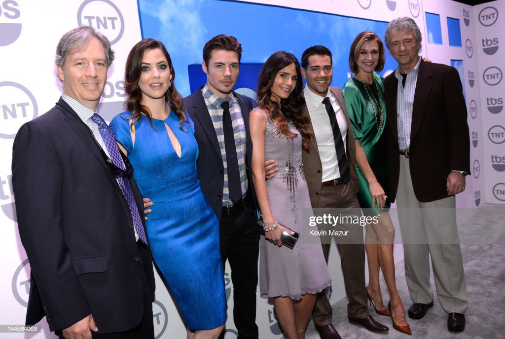 Julie Gonzalo, Josh Henderson, Jordana Brewster, Jesse Metcalfe, Brenda Strong and Patrick Duffy attend the TNT/ TBS Upfront 2012 at Hammerstein Ballroom on May 16, 2012 in New York City. 22362_001_0075.JPG