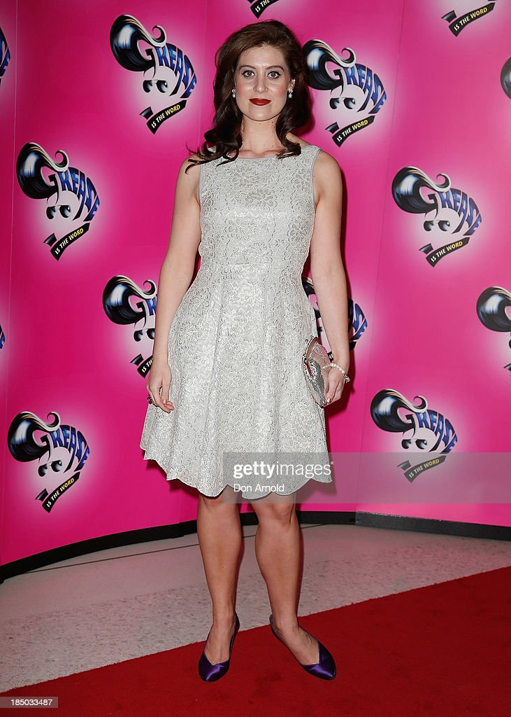 Julie Goodwin arrives at the Sydney Premiere of GREASE at The Star on October 17, 2013 in Sydney, Australia.