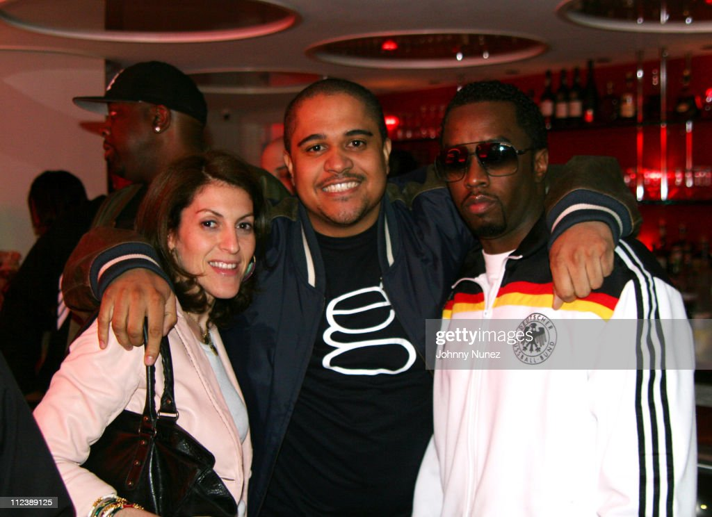 Julie Greenwald,Irv Gotti and Sean P. Diddy Combs during Cheri Dennis Album Listening Party Hosted by Sean P. Diddy Combs - April 12, 2006 at G Spa and Lounge in New York City, New York, United States.