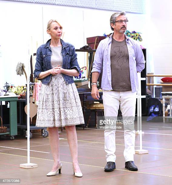 Julie Halston and Charles Shaughnessy during a press rehearsal for the Paper Mill Playhouse production of 'Ever After' at the New 42nd Street Studios...