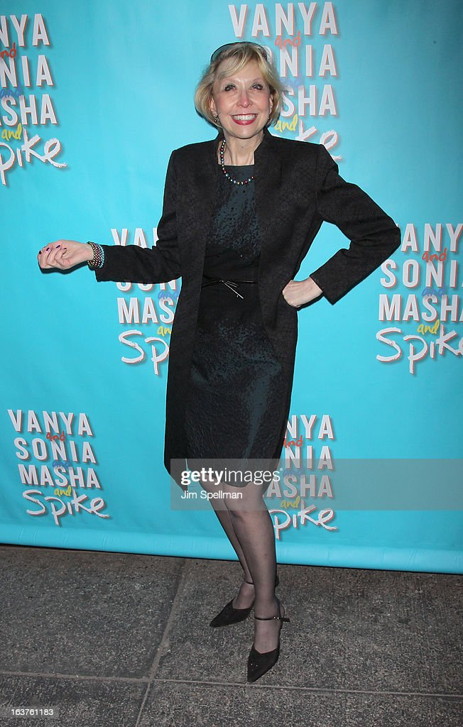 <a gi-track='captionPersonalityLinkClicked' href=/galleries/search?phrase=Julie+Halston&family=editorial&specificpeople=653379 ng-click='$event.stopPropagation()'>Julie Halston</a> attends the 'Vanya And Sonia And Masha And Spike' Broadway opening night at The Golden Theatre on March 14, 2013 in New York City.