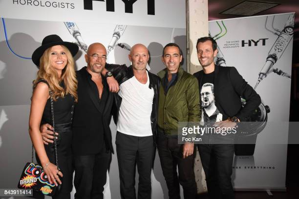 Julie Hantson Obispo Pascal Osbipo Fabien Barthez Youri Djorkaeff and HYT Watches CEO Gregory Dourde attend the HYT Watches Launch Party at VIP Room...