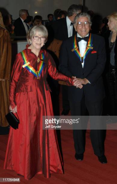 Julie Harris and Tony Bennett during The 28th Annual Kennedy Center Honors Arrivals at The Kennedy Center for the Perfoming Arts in Washington DC...