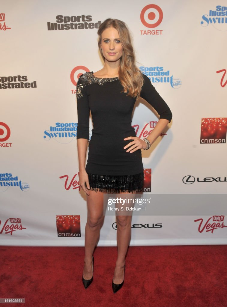 Julie Henderson attends the 2013 Sports Illustrated Swimsuit Launch Party at Crimson on February 12, 2013 in New York City.