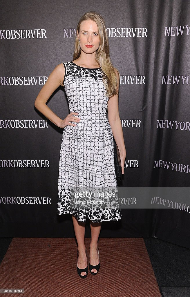 Julie Henderson attends The New York Observer Relaunch Event on April 1, 2014 in New York City.