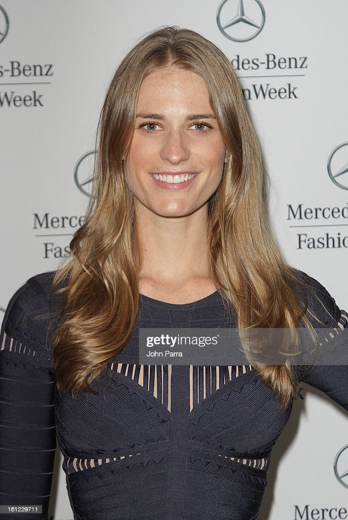 Julie Henderson is seen during Fall 2013 Mercedes-Benz Fashion Week at Lincoln Center for the Performing Arts on February 9, 2013 in New York City.