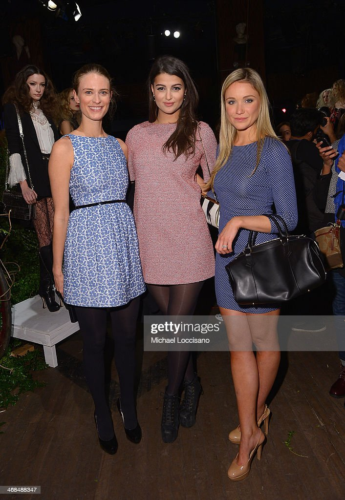 <a gi-track='captionPersonalityLinkClicked' href=/galleries/search?phrase=Julie+Henderson&family=editorial&specificpeople=4154524 ng-click='$event.stopPropagation()'>Julie Henderson</a>, Lily Lane, and Katrina Bowden attend the alice + olivia by Stacey Bendet Fall 2014 presentation during Mercedes-Benz Fashion Week Fall 2014 at The McKittrick Hotel on February 10, 2014 in New York City.