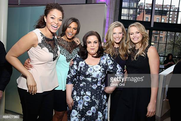 Julie Henderson Marquita Pring Rosaliz Jimenez Danielle Redman and Inga Eiriksdotti attend FULLBEAUTY Brands' launch of fullbeautycom and Fullbeauty...