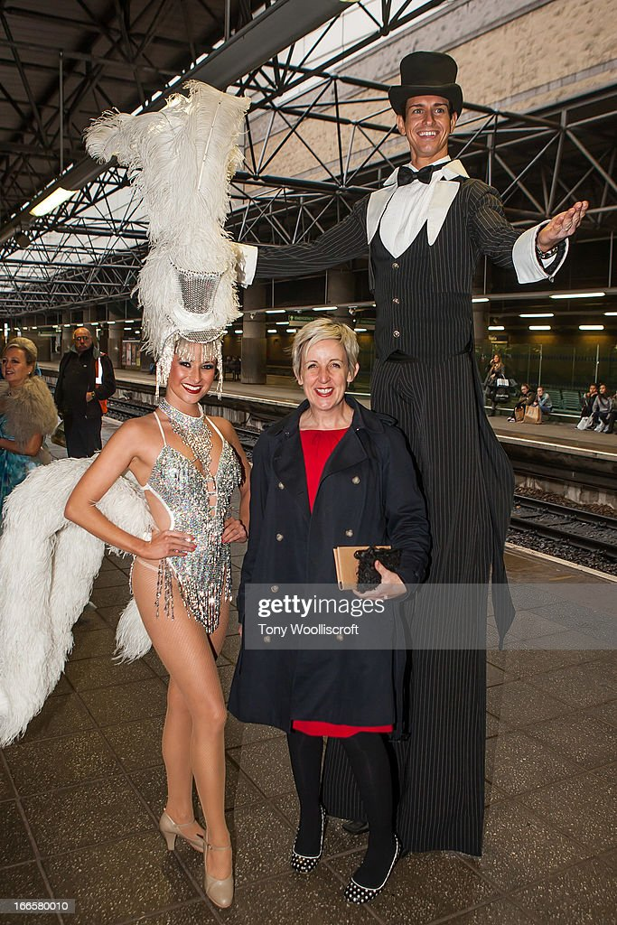 Julie Hesmondhalgh attends as The northern Belle makes a fundraising trip in aid of the 'When You Wish Upon a Star' charity on April 13, 2013 in Manchester, England.