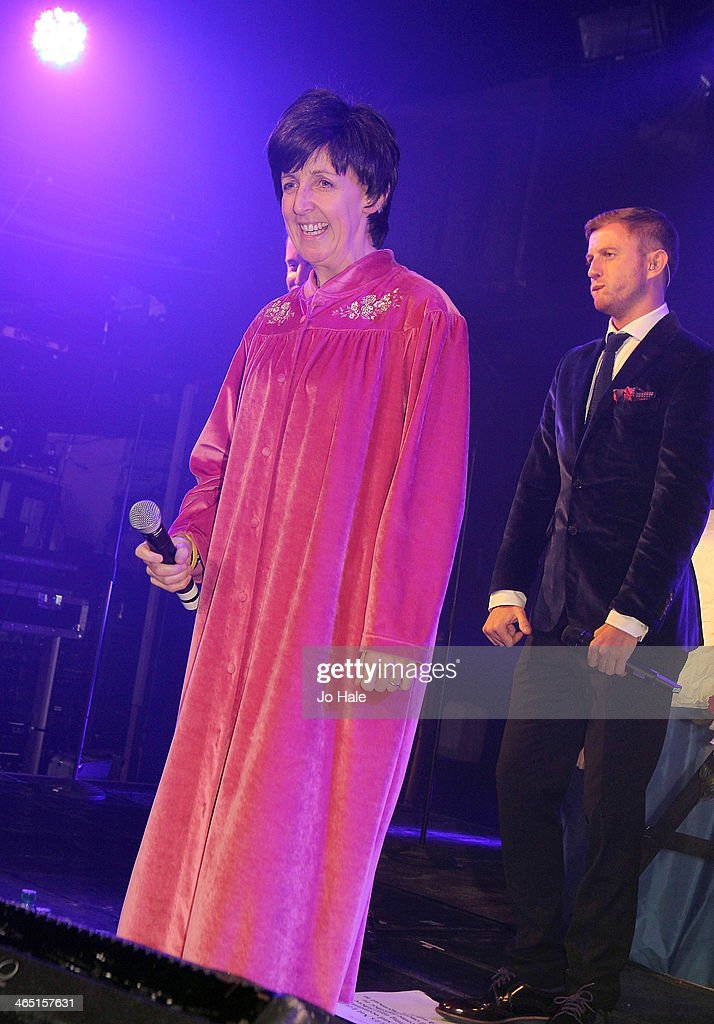 <a gi-track='captionPersonalityLinkClicked' href=/galleries/search?phrase=Julie+Hesmondhalgh&family=editorial&specificpeople=6470659 ng-click='$event.stopPropagation()'>Julie Hesmondhalgh</a> performs at the Hayley Cropper Coronation Street Memorial at G-A-Y on January 25, 2014 in London, England.