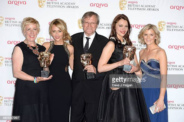 Julie Hesmondhalgh Samia Ghadie David Neilson Kate Ford and Jane Danson attend the Arqiva British Academy Television Awards at Theatre Royal on May...