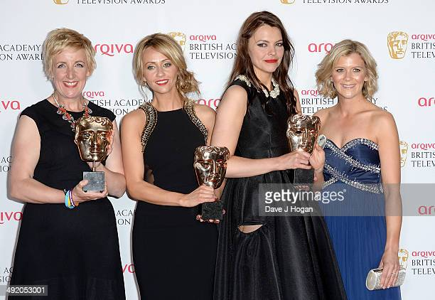 Julie Hesmondhalgh Samia Ghadie Kate Ford and Jane Danson attend the Arqiva British Academy Television Awards at Theatre Royal on May 18 2014 in...
