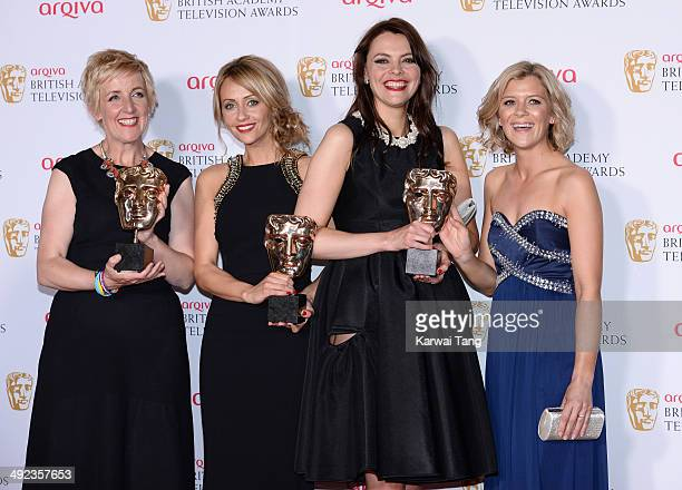 Julie Hesmondhalgh Samia Ghadie Kate Ford and Jane Danson with the Soap and Continuing Drama Award for Coronation Street at the Arqiva British...
