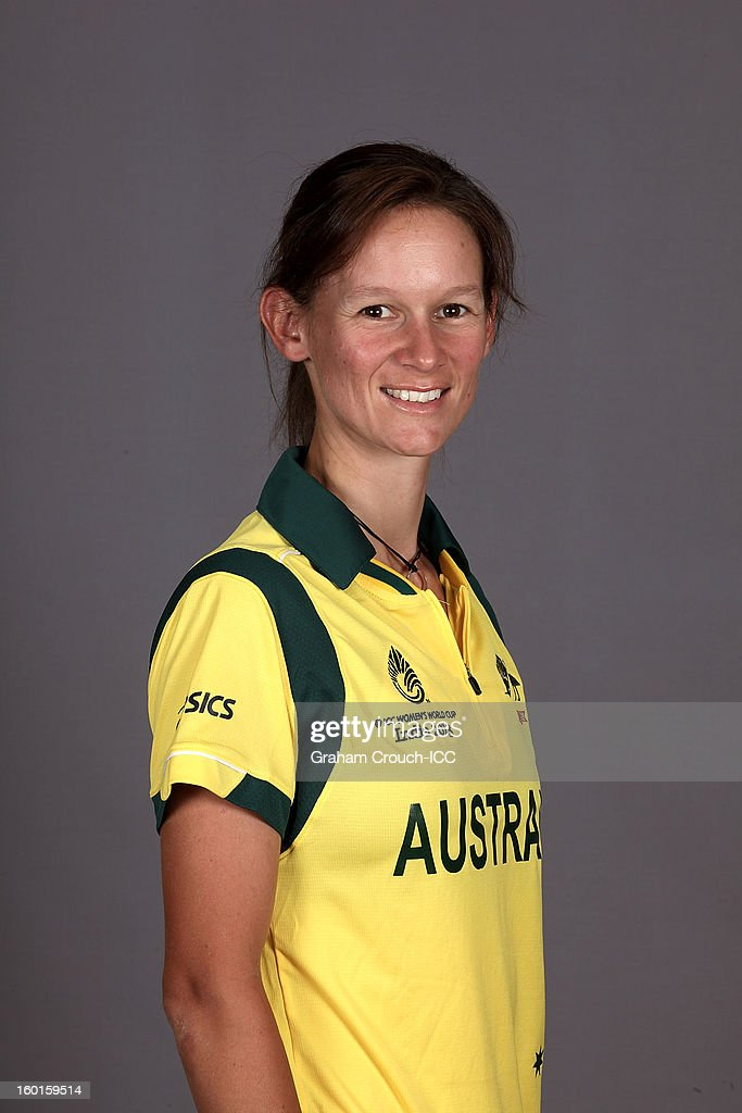 Julie Hunter of Australia attends a portrait session ahead of the ICC Womens World Cup 2013 at the Taj Mahal Palace Hotel on January 27, 2013 in Mumbai, India.