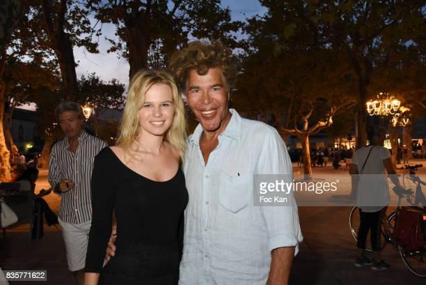 Julie Jardon and Igor Bogdanov attend the 'Carbone' SaintTropez Premiere Outside Arrivals At Cinema La Renaissance Place des LIces on August 19 2017...