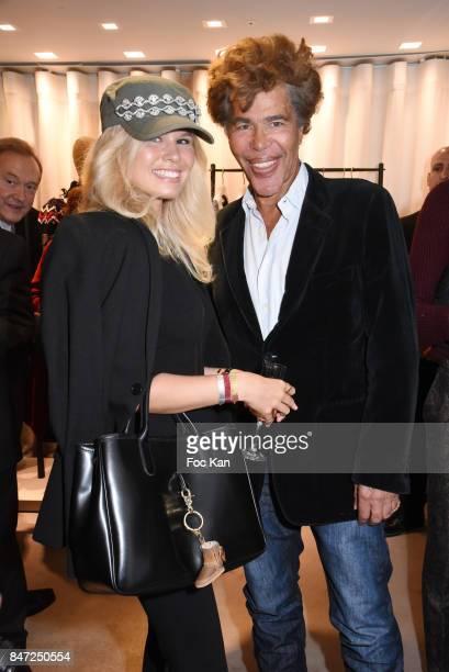 Julie Jardon and Igor Bogdanov attend the Loewe Cocktail As part of 'La Fete Des Vendanges' At Avenue Montaigne on September 14 2017 in Paris France