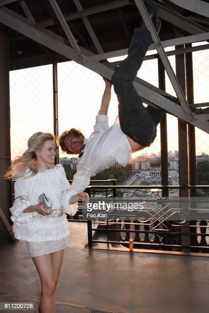 Julie Jardon and Igor Bogdanov attend the 'Paris Appreciation Awards 2017' At The Eiffel Tower on July 8 2017 in Paris France
