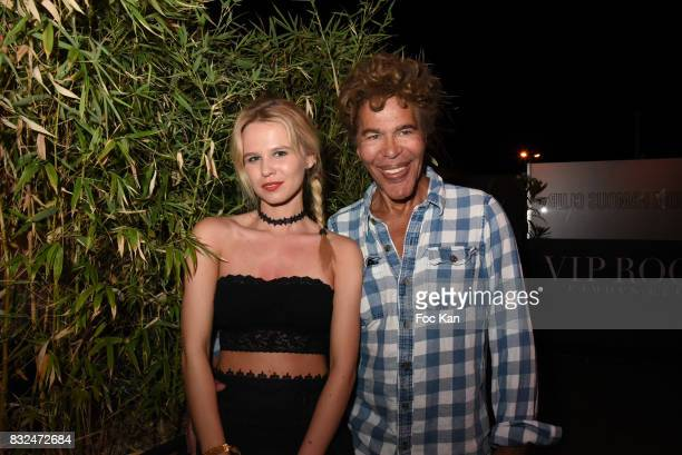 Julie Jardon and Igor Bogdanov attend the Tyga Party at VIP Room as part of SaintTropez Party On French Riviera on August 15 2017 in SaintTropez...
