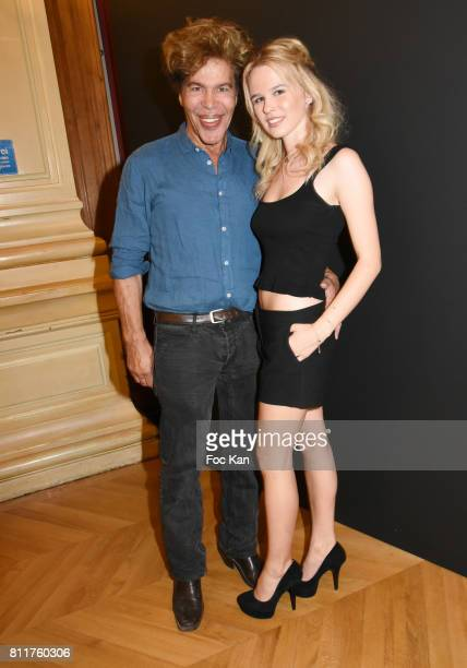 Julie Jardon and Igor Bogdanovattend the Dany Attrache Haute Couture Fall/Winter 20172018 show as part of Haute Couture Paris Fashion Week on July 4...